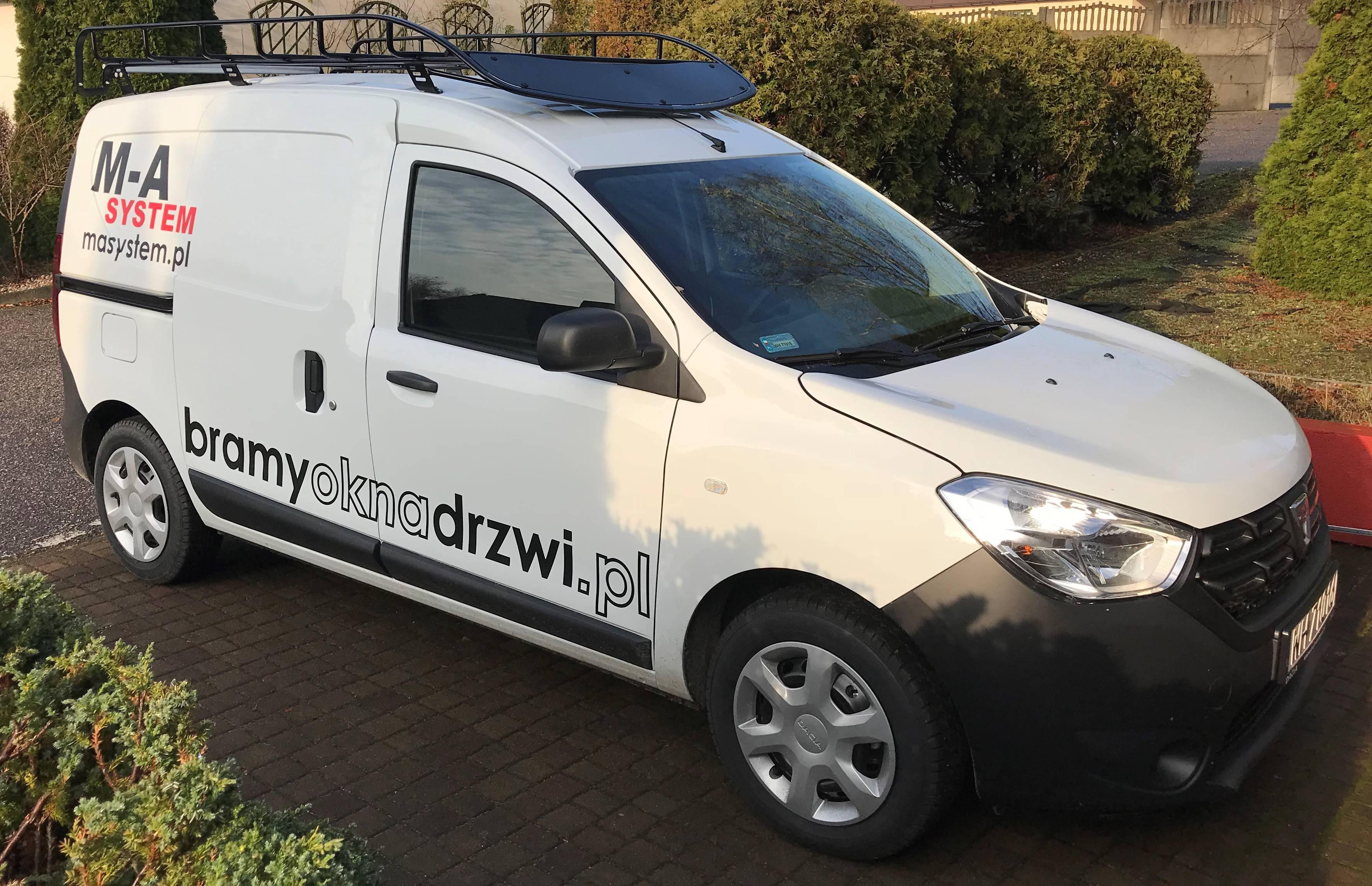 Dacia Dokker oklejanie pojazdów dostawczych Poznań