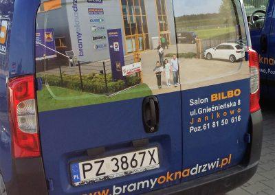 Fiat Fiorino oklejanie pojazdów dostawczych Poznań
